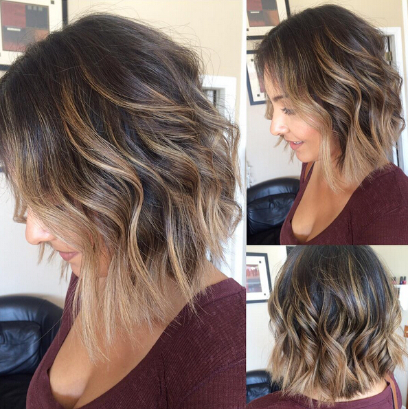 27 Perfect Bob Haircuts With Bangs – Pretty Designs For Adorable Wavy Bob Hairstyles (View 14 of 25)