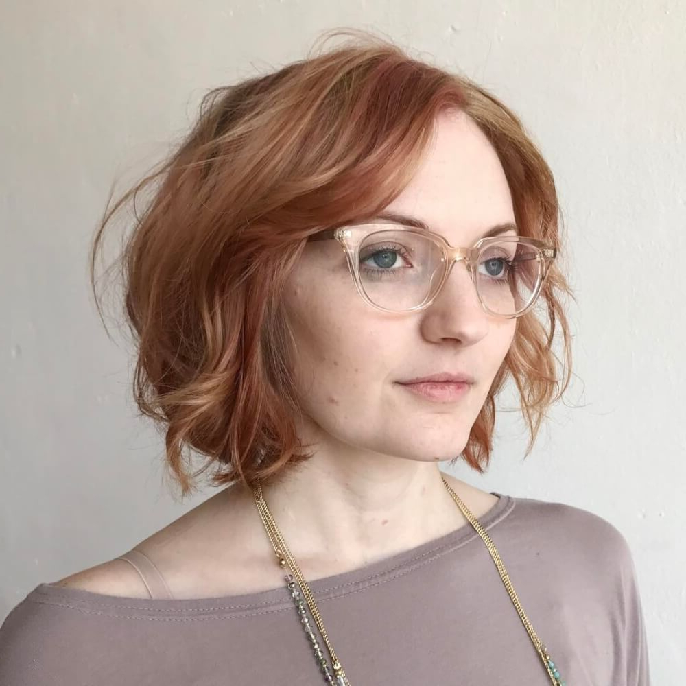 27 Yummiest Strawberry Blonde Hair Colors For 2018! With Regard To Strawberry Blonde Short Haircuts (View 2 of 25)
