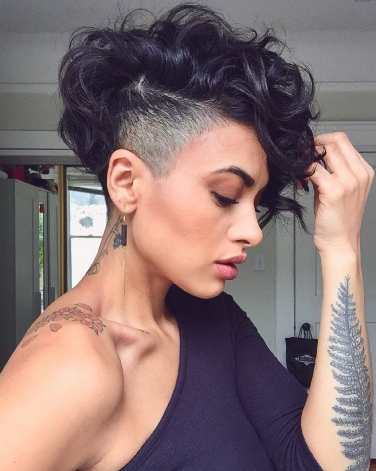 28 Curly Pixie Cuts That Are Perfect For Fall 2017 – Glamour Throughout Curly Black Tapered Pixie Hairstyles (View 6 of 25)