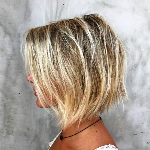29 Alluring Short Bob Hairstyles To Make You Look More Fascinating Regarding Messy Jaw Length Blonde Balayage Bob Haircuts (View 21 of 25)