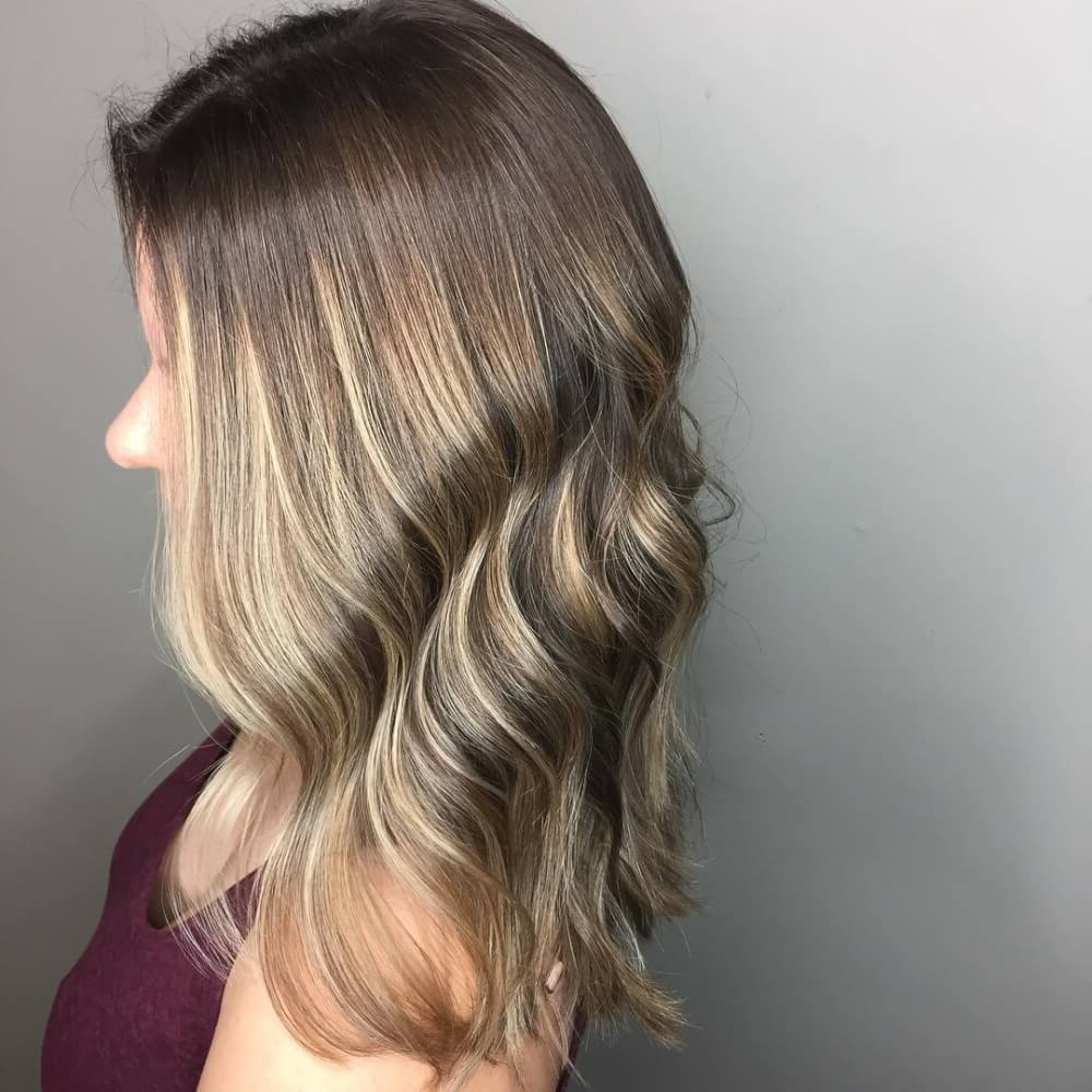 29 Cutest Long Bob Haircuts & Lob Styles Of 2018 Throughout Angelic Blonde Balayage Bob Hairstyles With Curls (View 13 of 25)