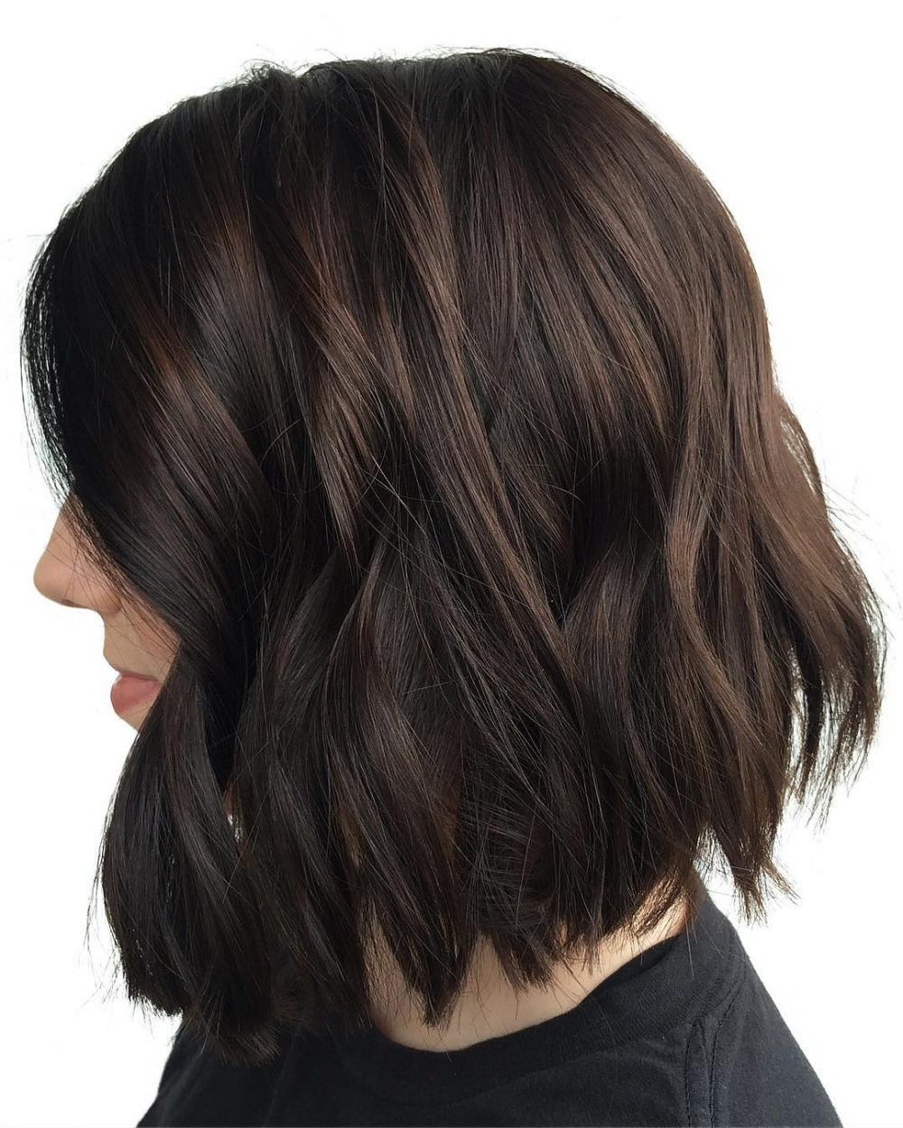 29 Flattering Dark Hair Colors For Every Skin Tone In 2018 With Disheveled Burgundy Brown Bob Hairstyles (View 15 of 25)