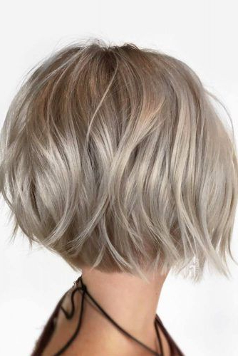 29 Impressive Short Bob Hairstyles To Try | Hairstyle Ideas In Sleek Blonde Bob Haircuts With Backcombed Crown (View 11 of 25)