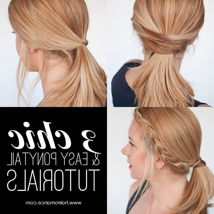 3 Chic Ponytail Tutorials To Lift Your Everyday Hair Game – Hair Romance Regarding Romantic Ponytail Hairstyles (View 21 of 25)