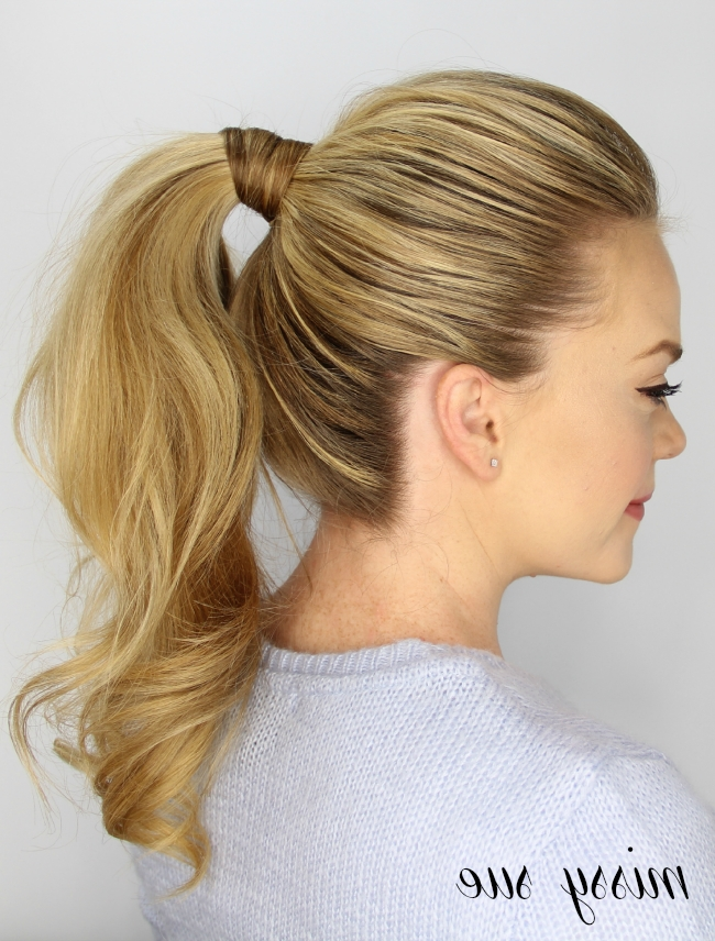 3 Easy 5 Minute Hairstyles With 2 Minute Side Pony Hairstyles (View 11 of 25)