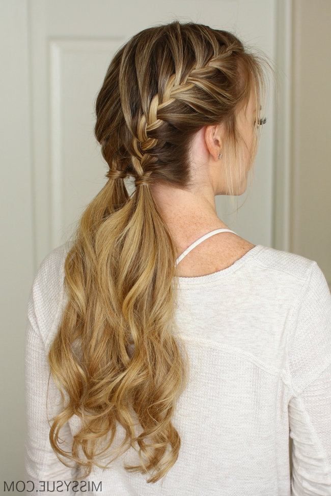 3 Easy Gym Hairstyles | Missy Sue In Messy Double Braid Ponytail Hairstyles (View 20 of 25)