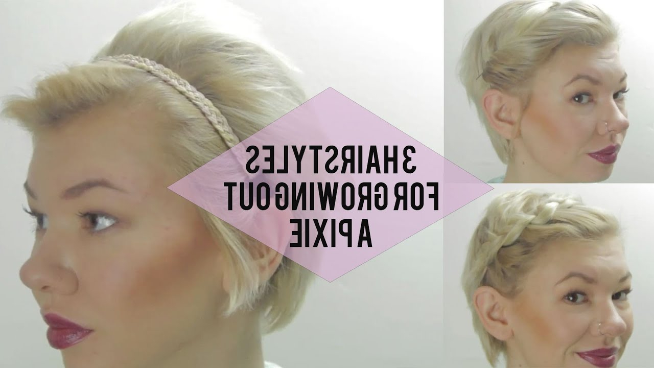 3 Easy Hairstyles For Growing Out A Pixie (Very Short Hair Tutorials Intended For Short Hairstyles For Growing Out A Pixie Cut (View 3 of 25)