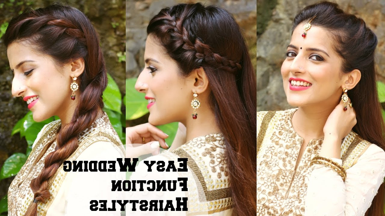 3 Easy Hairstyles For Indian Wedding Occasions For Medium Hair Inside Short Hairstyles For Indian Wedding (View 10 of 25)