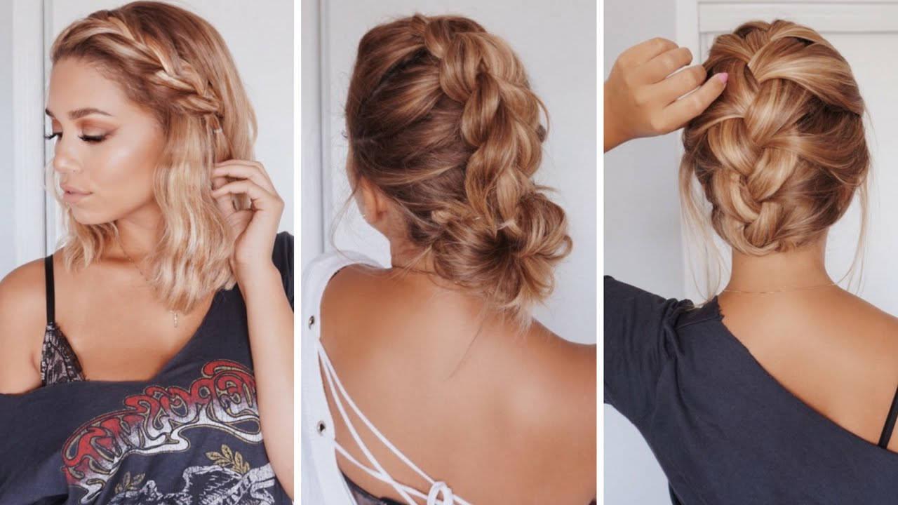 3 Easy Hairstyles For Short/medium Length Hair   Ashley Bloomfield With Cute Short To Medium Haircuts (View 23 of 25)