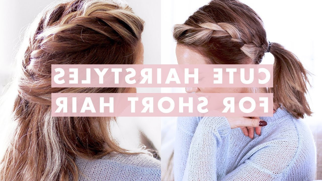 3 Easy Hairstyles For Short/medium Length Hair – Youtube Intended For Short To Mid Length Hairstyles (View 12 of 25)