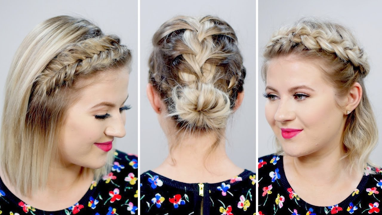 3 Gorgeous Spring Braided Short Hairstyles   Milabu – Youtube For Short Hairstyles For Spring (View 20 of 25)