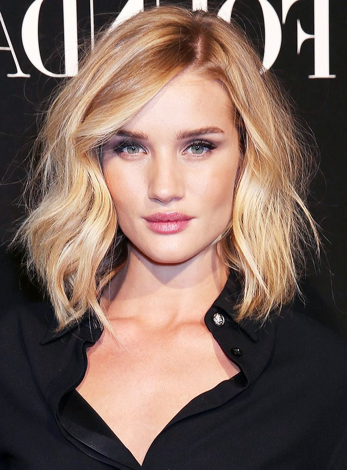 3 Of The Most Flattering Haircuts For Round Faces In 2018 | Hair Etc With Lip Length Tousled Brunette Bob Hairstyles (View 7 of 25)