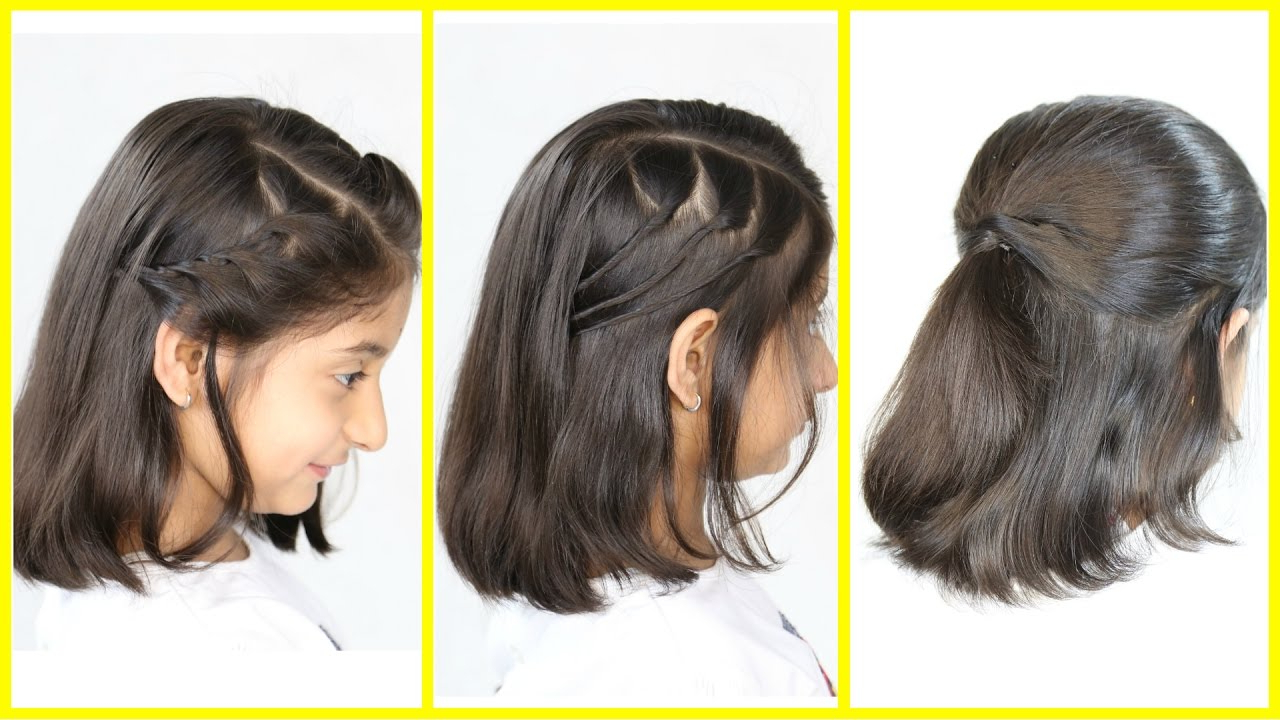 3 Simple & Cute Hairstyles (New) For Short/medium Hair | Mymissanand Regarding Cute Hairstyles For Girls With Short Hair (View 5 of 25)