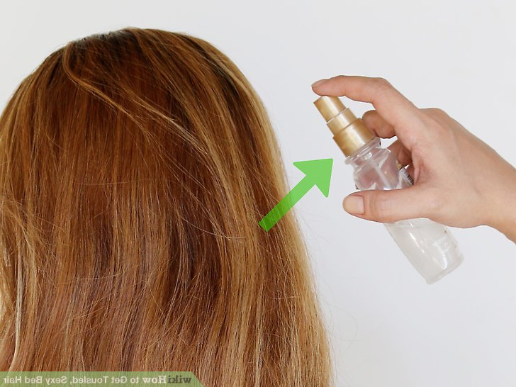 3 Ways To Get Tousled, Sexy Bed Hair – Wikihow Pertaining To Tousled Beach Bob Hairstyles (View 11 of 25)