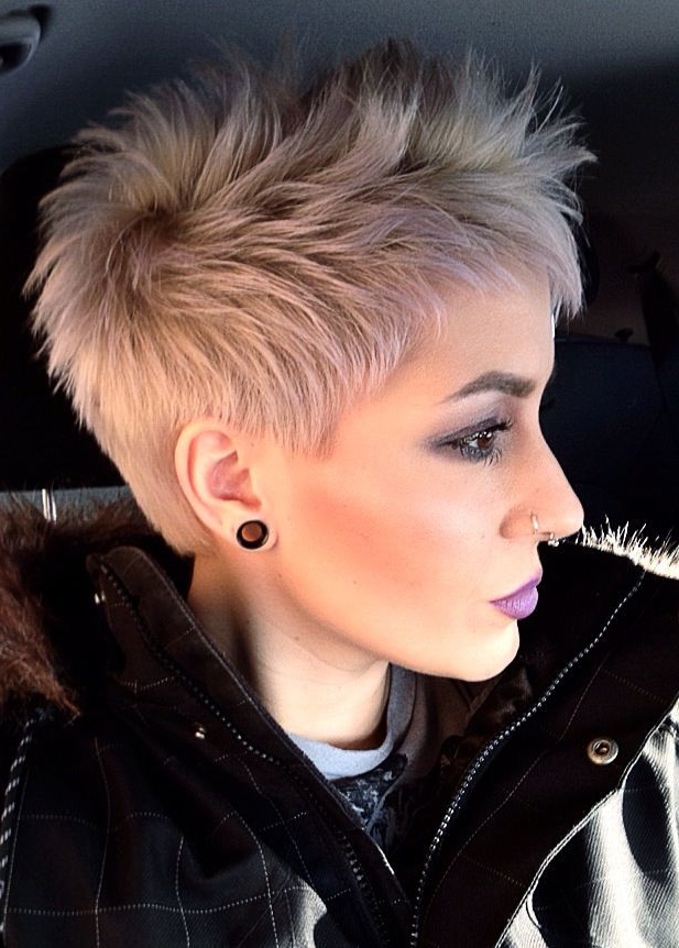 30 Amazing Short Hairstyles For 2019 – Amazing Short Haircuts For Pertaining To Sexy Pixie Hairstyles With Rocker Texture (View 4 of 25)