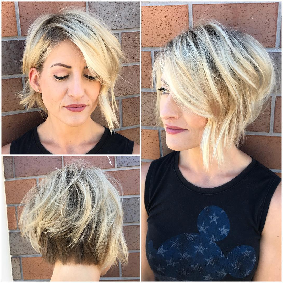 30 Asymmetrical Bob Hairstyles To Astonish Everyone For White Blonde Curly Layered Bob Hairstyles (View 8 of 25)