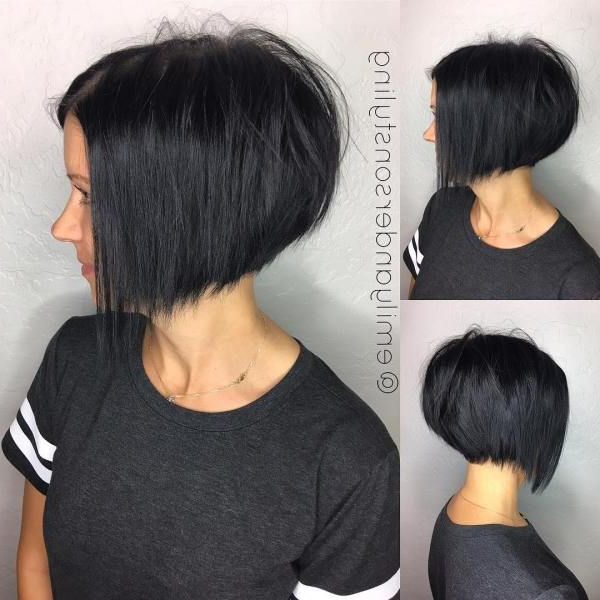 30 Beautiful And Classy Graduated Bob Haircuts In 2018 | Styles For Stacked Black Bobhairstyles  With Cherry Balayage (View 11 of 25)