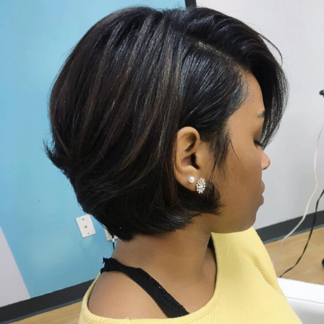 30 Best African American Hairstyles 2018 – Hottest Hair Ideas For Within Black Short Layered Hairstyles (View 17 of 25)
