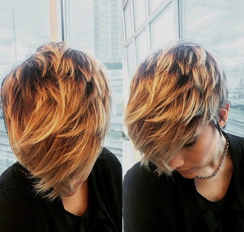 30 Best Balayage Hairstyles For Short Hair 2018 – Balayage Hair Inside Long Feathered Espresso Brown Pixie Hairstyles (View 4 of 25)