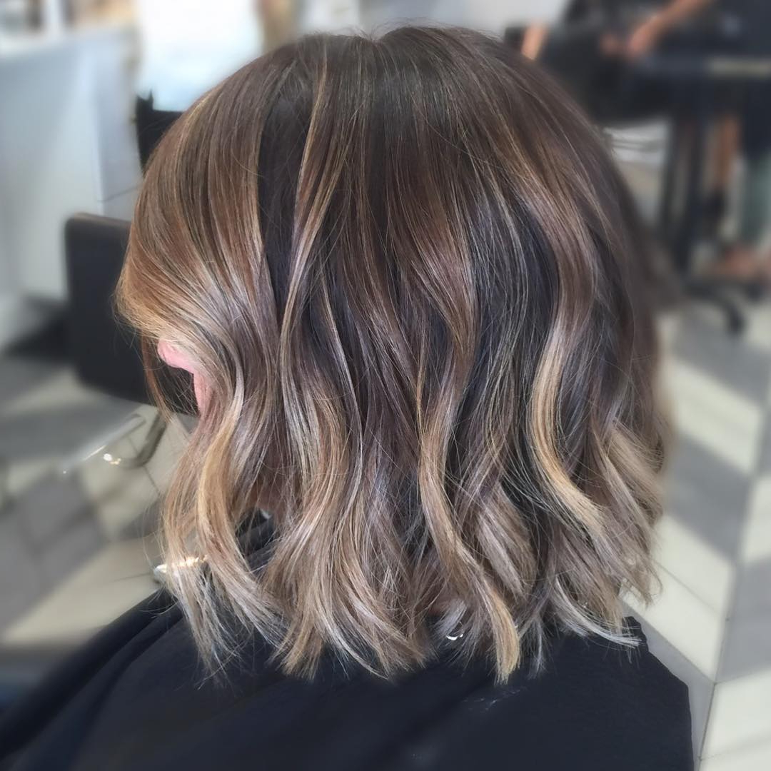 30 Best Balayage Hairstyles For Short Hair 2018 – Balayage Hair Intended For Nape Length Wavy Ash Brown Bob Hairstyles (View 19 of 25)