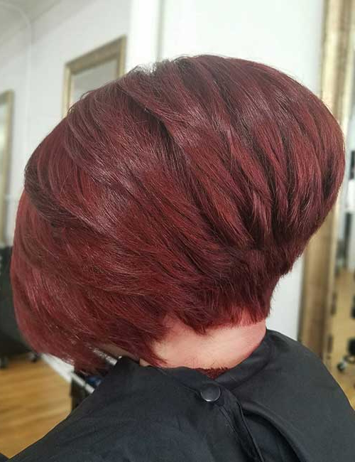 30 Best Stacked Hairstyle Ideas – Blushery Intended For Stacked Black Bobhairstyles  With Cherry Balayage (View 15 of 25)