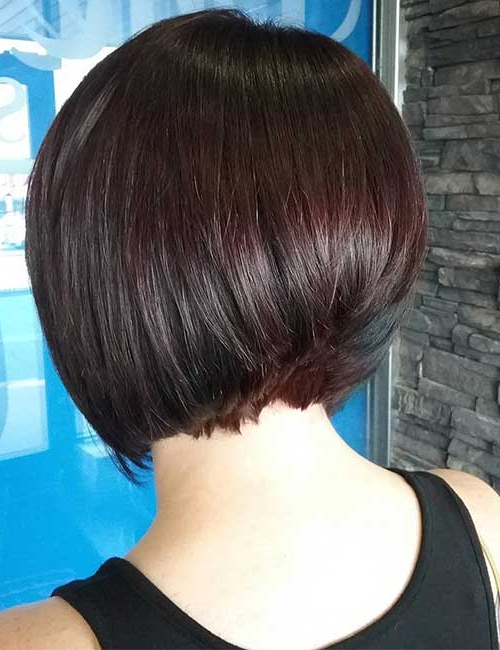 30 Best Stacked Hairstyle Ideas Throughout Stacked Black Bobhairstyles  With Cherry Balayage (View 14 of 25)