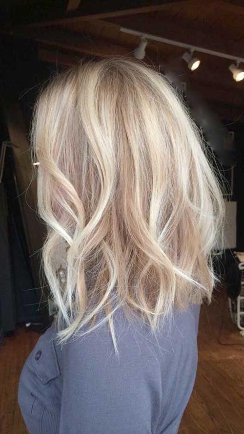 30+ Blonde Long Bob Hair | Bob Hairstyles 2015 – Short Hairstyles Intended For Short Wavy Blonde Balayage Bob Hairstyles (View 4 of 25)