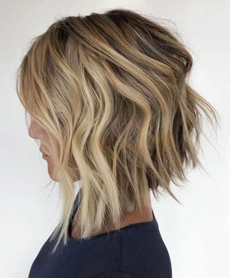 30 Choppy Layered Haircuts   Hairstyles & Haircuts 2017 With Choppy Wispy Blonde Balayage Bob Hairstyles (View 25 of 25)