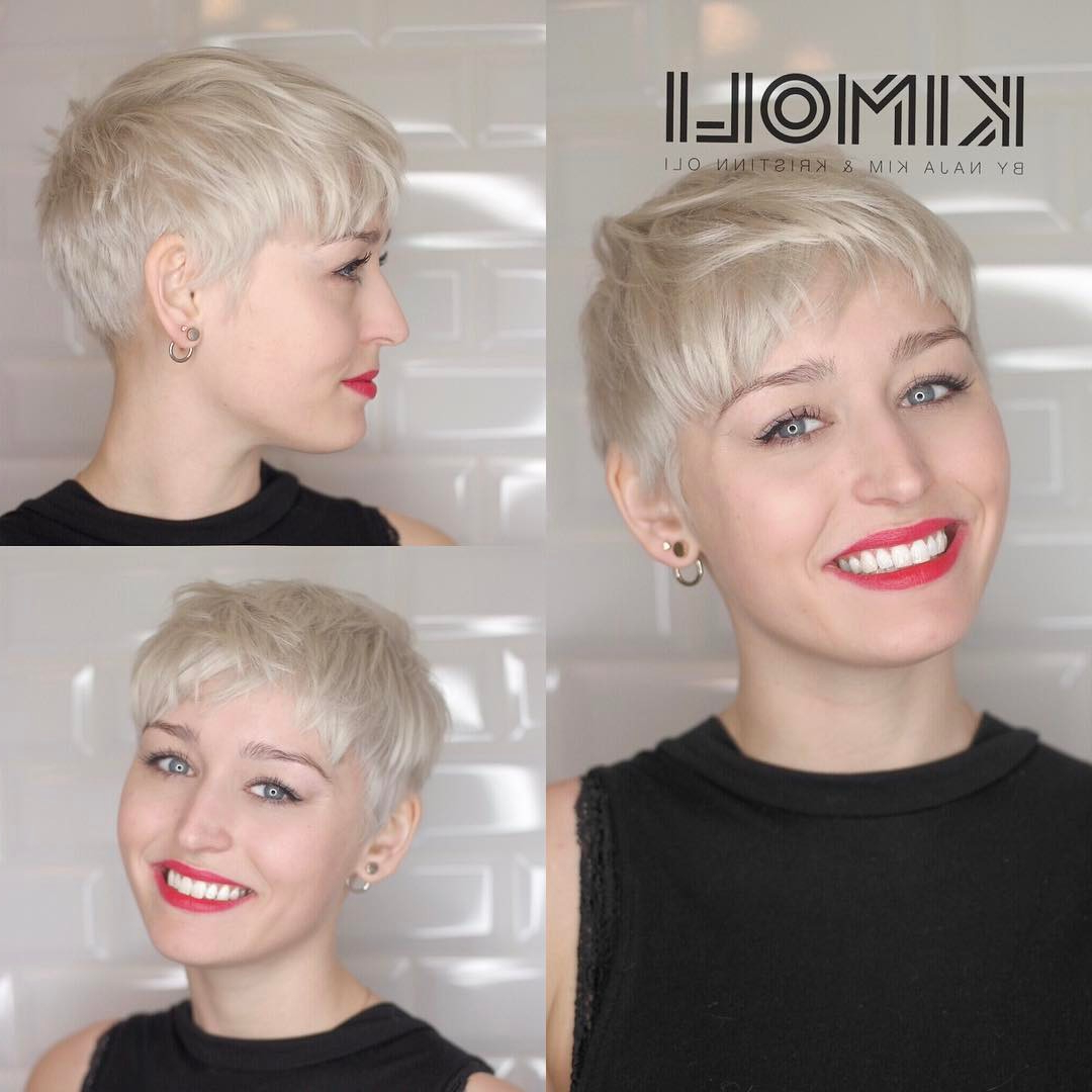 30 Cute Pixie Cuts: Short Hairstyles For Oval Faces – Popular Haircuts Inside Women Short Hairstyles For Oval Faces (View 5 of 25)