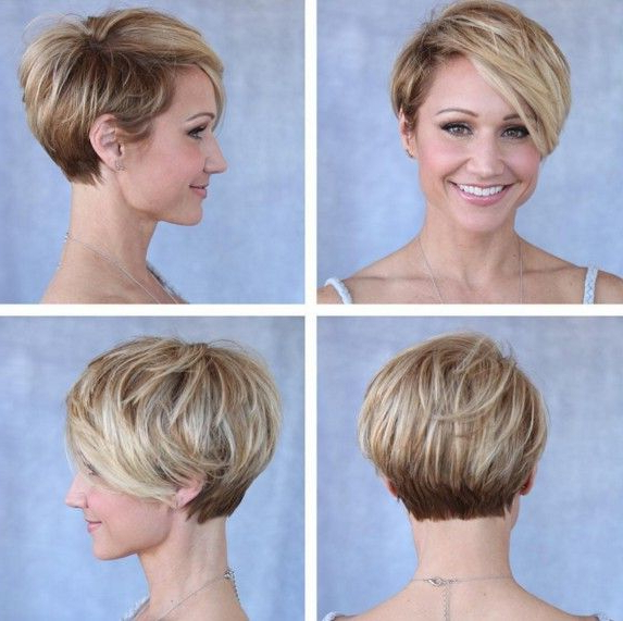 30 Cute Pixie Cuts: Short Hairstyles For Oval Faces   Short Hair Pertaining To Rounded Pixie Bob Haircuts With Blonde Balayage (View 3 of 25)