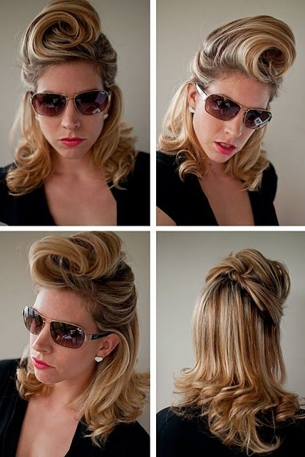 30 Days Of Twist & Pin Hairstyles – The Hair Romance Ebook | Hair In Twisted Retro Ponytail Updo Hairstyles (View 22 of 25)