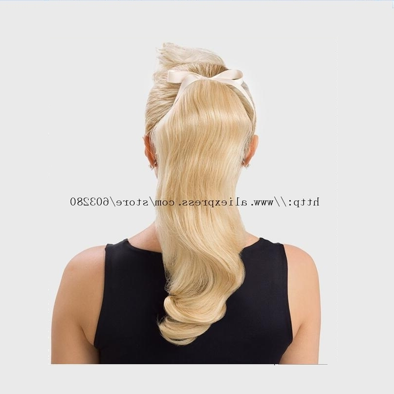 30 Fantastic French Braid Ponytails 16 32Inch Straight 180G Wrap Intended For Straight Triple Threat Ponytail Hairstyles (View 12 of 25)