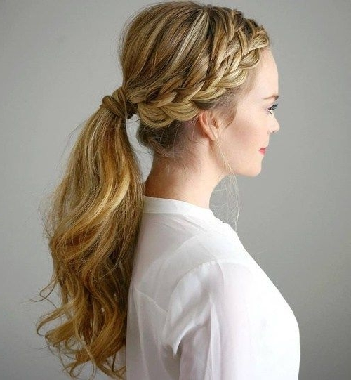 Featured Photo of Long Ponytails With Side Braid