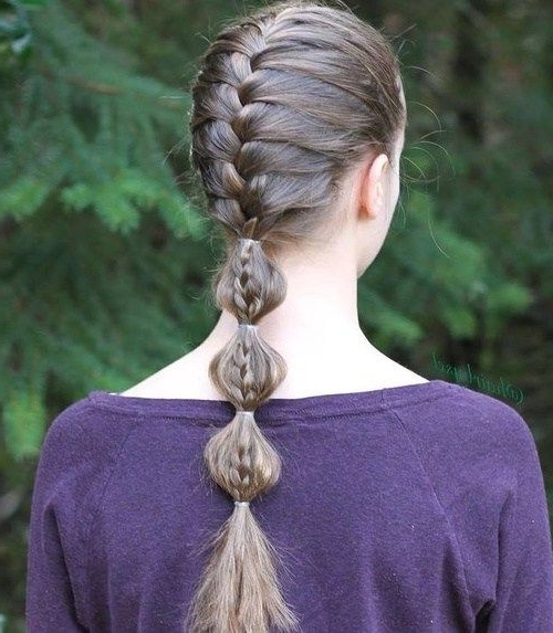 Featured Photo of French Braid Ponytail Hairstyles With Bubbles