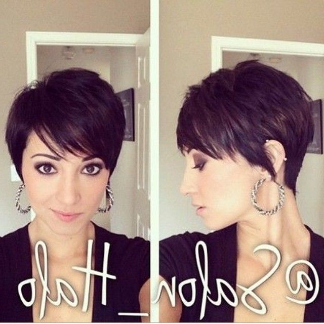 30 Hottest Pixie Haircuts 2018 – Classic To Edgy Pixie Hairstyles Inside Layered Pixie Hairstyles With An Edgy Fringe (View 14 of 25)