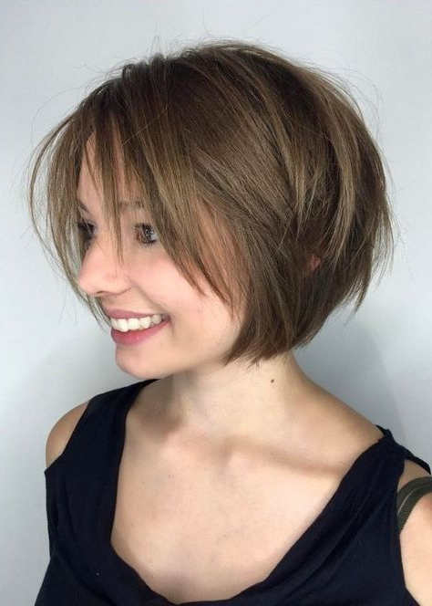 30 Layered Bob Haircuts For Weightless Textured Styles Inside Rounded Tapered Bob Hairstyles With Shorter Layers (View 3 of 25)