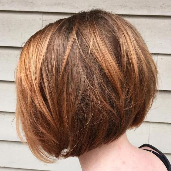 30 Layered Bob Haircuts For Weightless Textured Styles With Regard To Straight Cut Bob Hairstyles With Layers And Subtle Highlights (View 9 of 25)