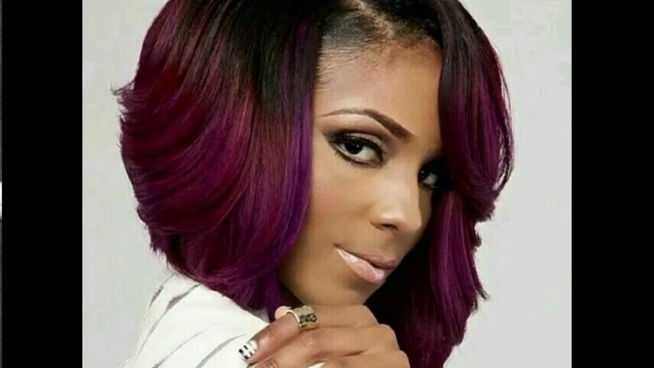 30 Natural Black Hairstyles For Thin Hair | Natural Black Hairstyles Throughout Purple And Black Short Hairstyles (View 24 of 25)