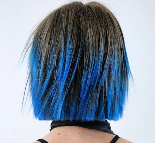 30 Short Ombre Hair Options For Your Cropped Locks In 2018 In 2018 Throughout Blue Balayage For Black Choppy Bob Hairstyles (View 5 of 25)