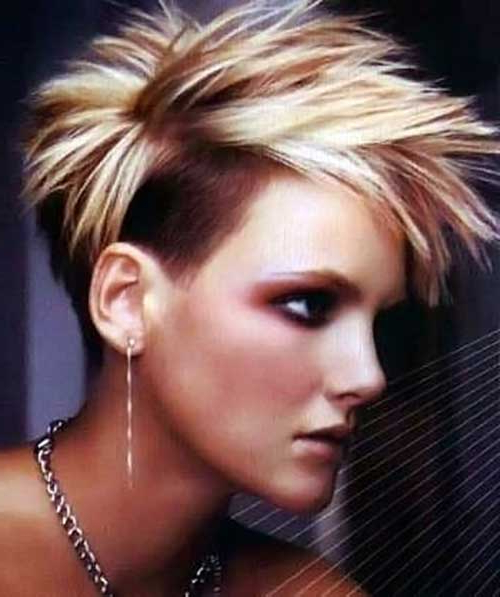 30 Spiky Short Haircuts | Short Hairstyles 2017 – 2018 | Most Intended For Funky Pixie Undercut Hairstyles (View 14 of 25)