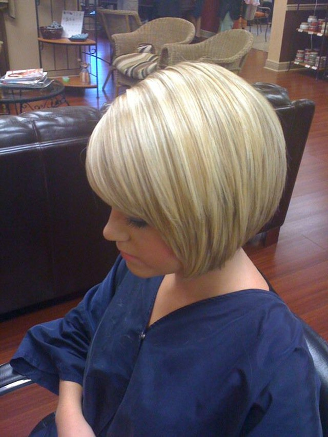 30 Stacked A Line Bob Haircuts You May Like – Pretty Designs Inside Short Blonde Inverted Bob Haircuts (View 10 of 25)