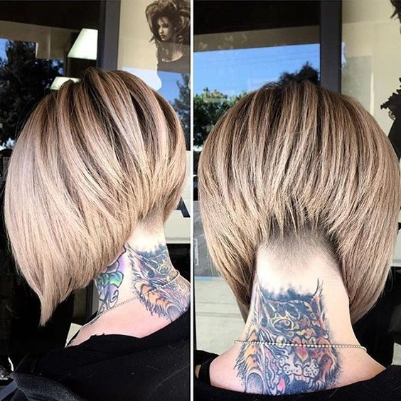 30 Stacked Bob Haircuts For Sophisticated Short Haired Women Inside Southern Belle Bob Haircuts With Gradual Layers (View 7 of 25)