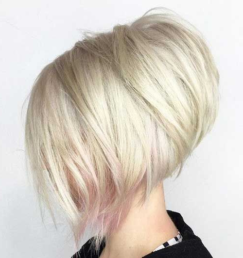 30 Stacked Bob Haircuts For Sophisticated Short Haired Women With Stacked Choppy Blonde Bob Haircuts (View 16 of 25)