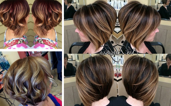 30 Stunning Balayage Short Hairstyles 2018 – Hot Hair Color Ideas With Regard To Stacked Blonde Balayage Pixie Hairstyles For Brunettes (View 23 of 25)
