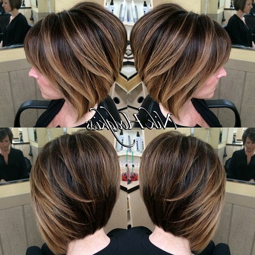 30 Stunning Balayage Short Hairstyles 2018 – Hot Hair Color Ideas Within Layered Caramel Brown Bob Hairstyles (View 24 of 25)