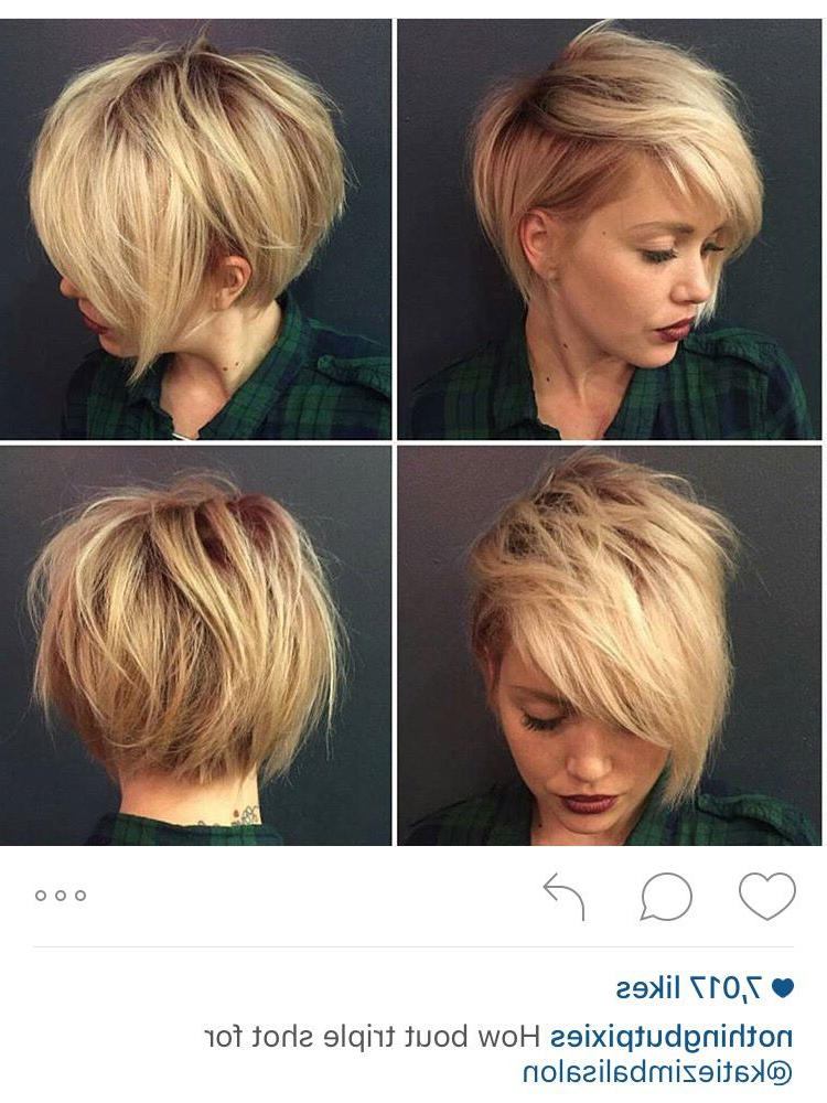 30 Stylish Short Hairstyles For Girls And Women: Curly, Wavy In Messy Asymmetrical Pixie Bob Haircuts (View 1 of 25)