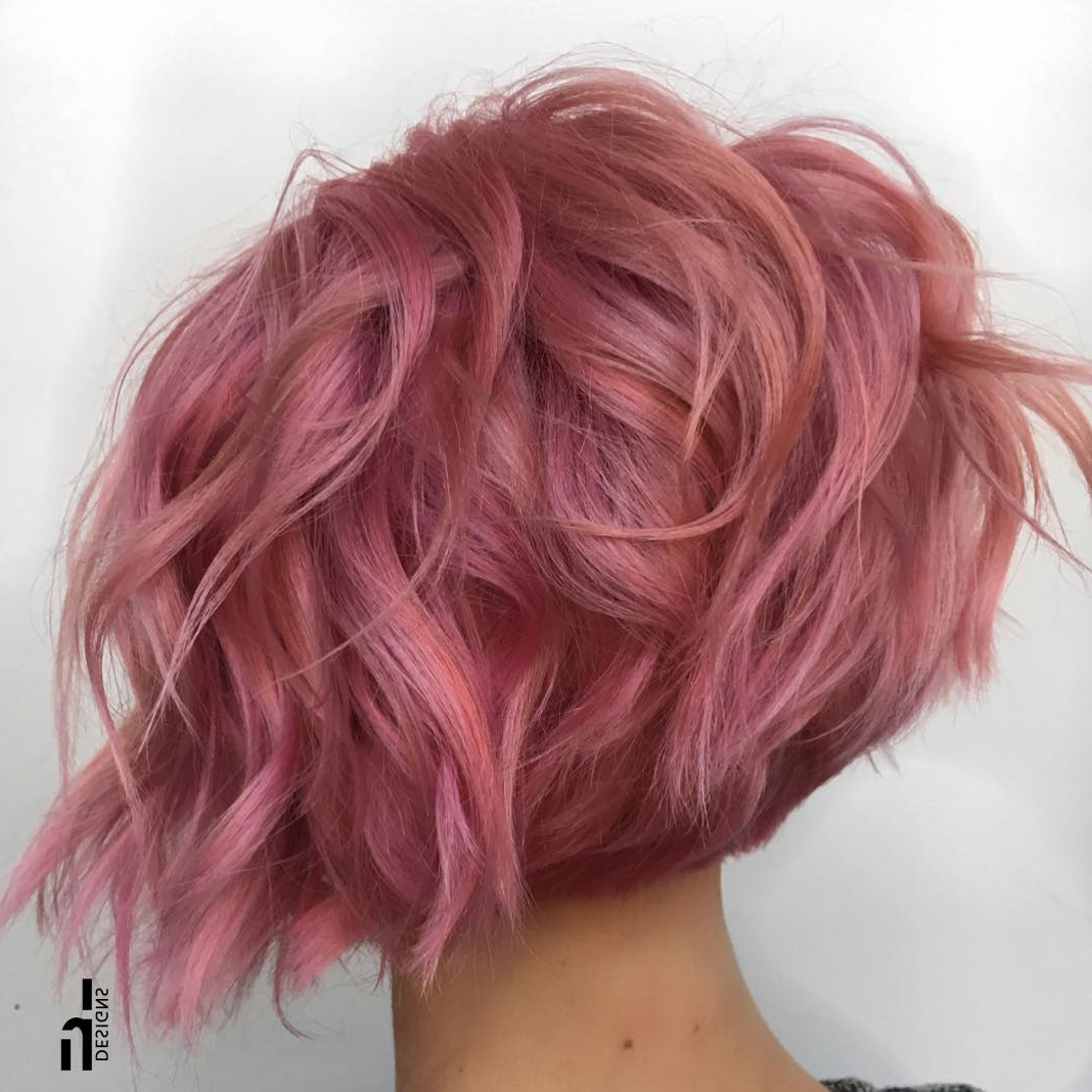 30 Super Hot Stacked Bob Haircuts: Short Hairstyles For Women 2018 In Wavy Sassy Bob Hairstyles (View 8 of 25)