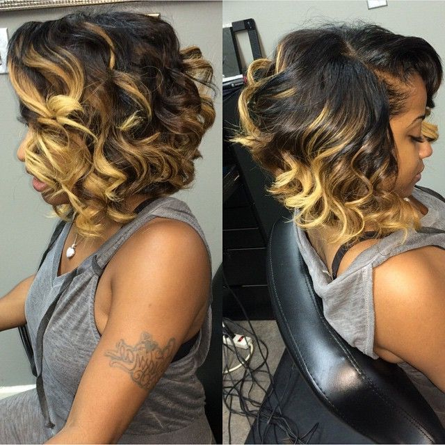 30 Trendy Bob Hairstyles For African American Women 2018 In Two Tone Curly Bob Haircuts With Nape Undercut (View 22 of 25)