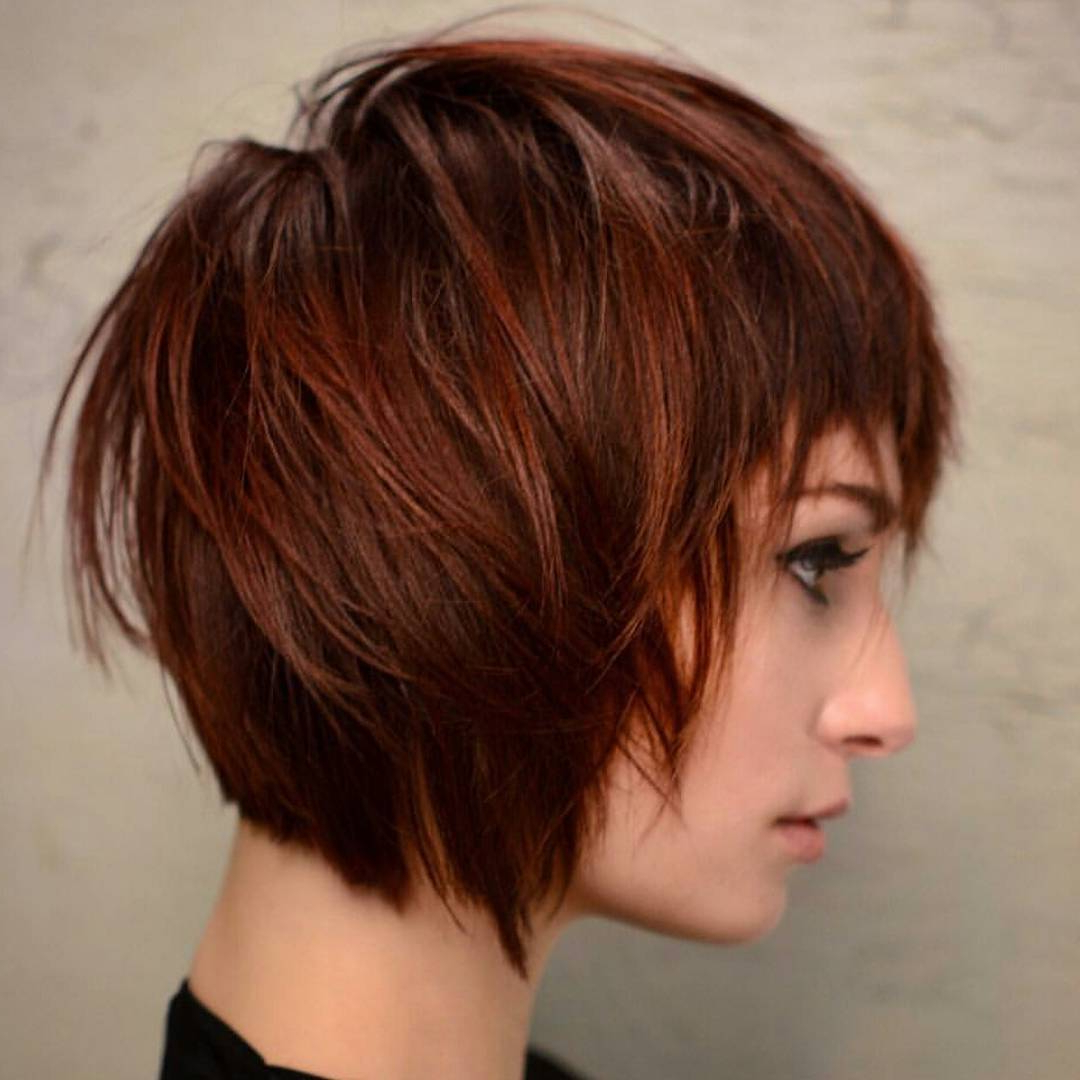 30 Trendy Short Hairstyles For Thick Hair – Women Short Hair Cuts In Trendy Short Haircuts (View 24 of 25)