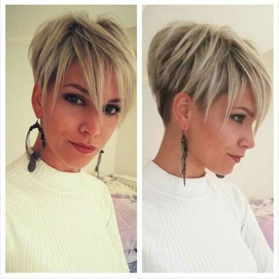 30 Trendy Stacked Hairstyles For Short Hair – Practicality Short With Two Tone Stacked Pixie Bob Haircuts (View 12 of 25)